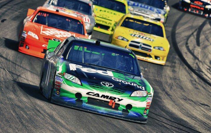 Denny Hamlin Racing at Vegas Motor Speedway