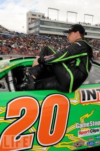 Denny Climbing into the #20 Interstate Batteries Toyota
