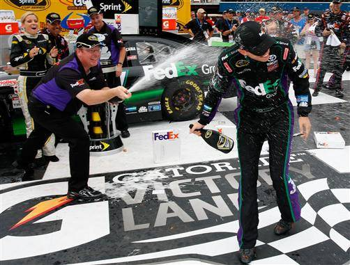 Denny Hamlin Wins Michigan