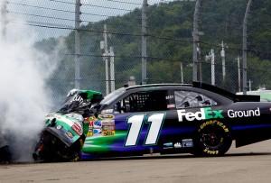Denny Hamlin Crashes at Watkins Glen