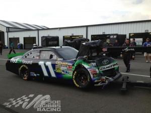 Denny Hamlin Wrecks at Pocono