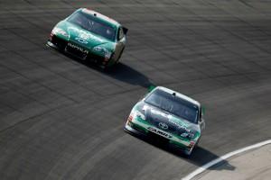 Denny Hamlin passes Dale Jr