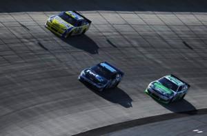 Denny Hamlin leads at Dover