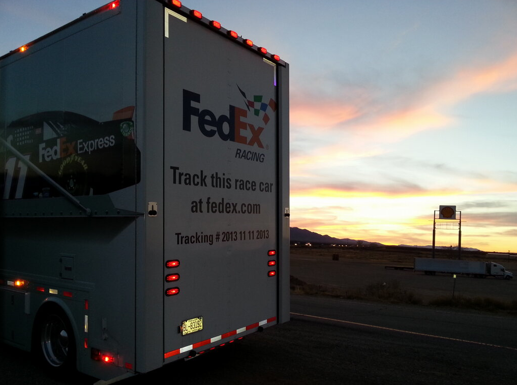 Denny Hamlin's Hauler in the Arizona Sunset