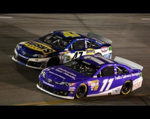 Brian Vickers in Denny Hamlin's Car at Richmond